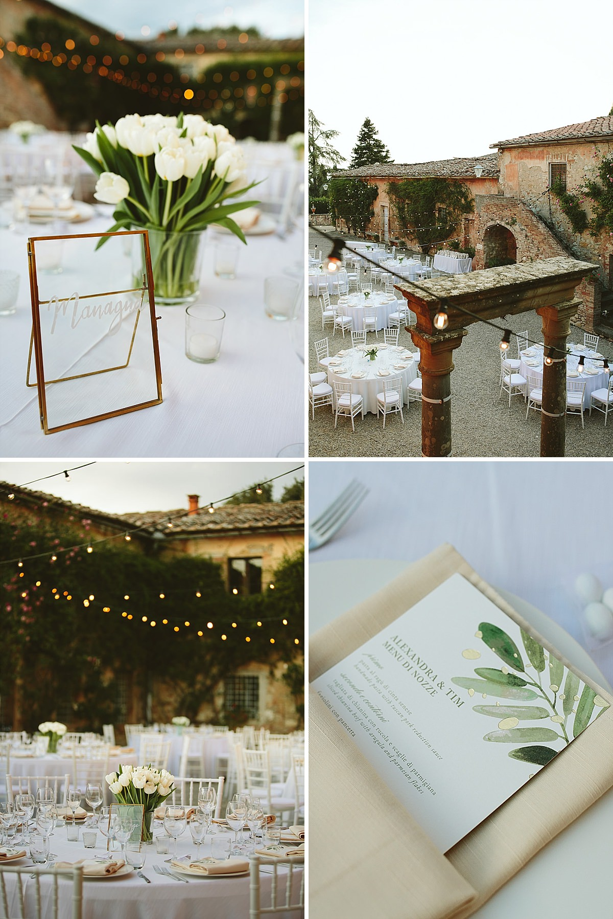 villa catignano table setting